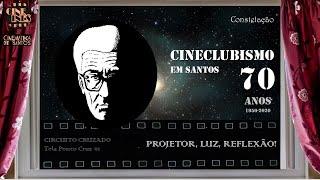 CINECLUBISMO EM SANTOS - 70 ANOS (1950-2020) - Tela Ponto Cruz 01: Projetor, Luz, Reflexão!