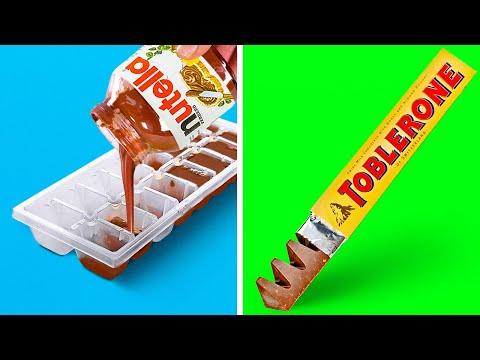 24 IDEAS Y RECETAS INCREÍBLES PARA POSTRES || CHOCOLATES Y CARAMELOS DIY