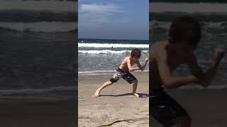 Martial Arts Forms on the beach