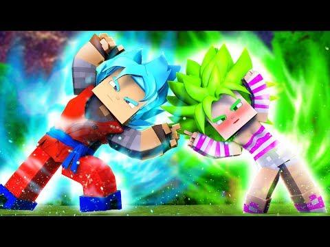 Minecraft: DRAGON BLOCK C GUERRA 2 #15 - FUSÃO COM A MENINA SAYAJIN  LENDÁRIA !!