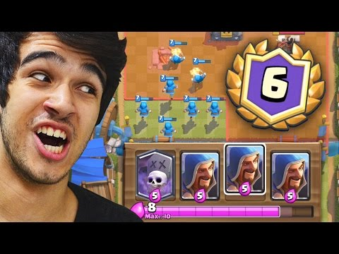 GANHEI O NOVO DESAFIO DO MAGO NO CLASH ROYALE!!
