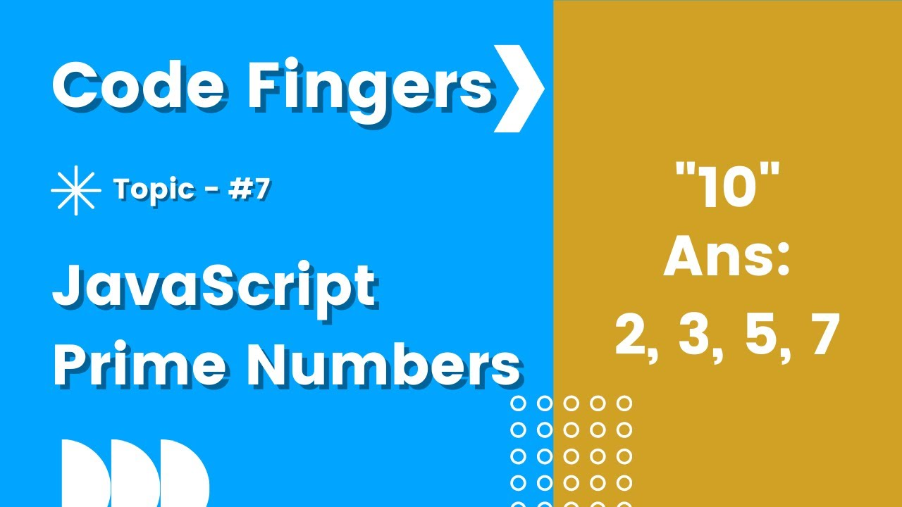 JavaScript Prime Numbers from 1 to a Given Number