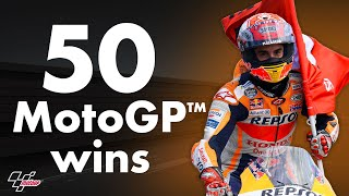 Marc Marquez's 50 wins in MotoGP™!