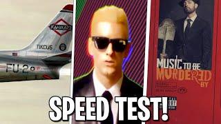 Rap God vs Lucky You vs Godzilla - SPEED TEST!!😱 DIFFERENZA in SILLABE!😱 - EMINEM RAP SPEED TEST