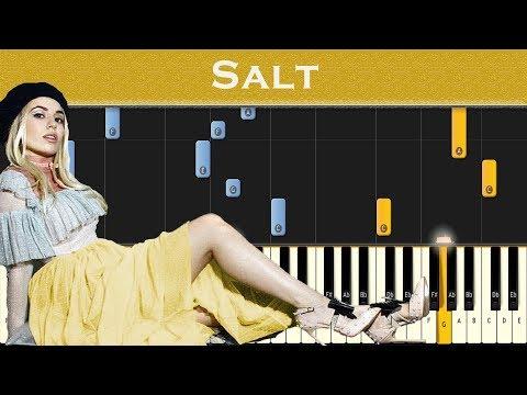 Ava Max - Salt | Piano tutorial