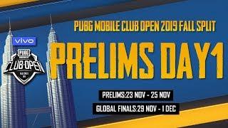 [ID Bahasa] PMCO Global Prelims Day 1 | Vivo | Fall Split | PUBG MOBILE CLUB OPEN 2019