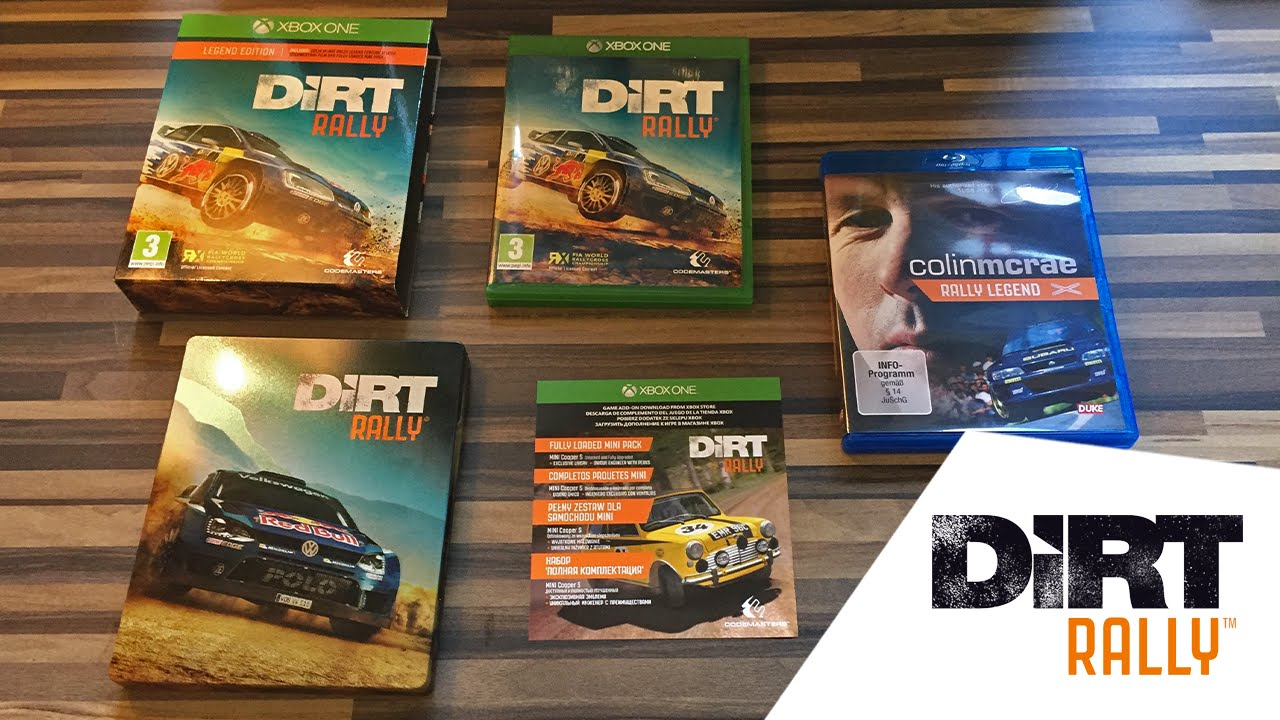 dirt rally legend edition steelbook unboxing xbox one. Black Bedroom Furniture Sets. Home Design Ideas