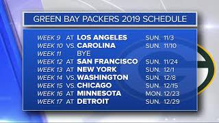 2019 NFL Schedule for Packers and Vikings