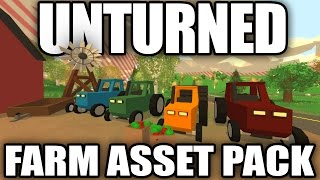 Unturned Modday: Farm Asset Pack! (Tractors, Trailers, Apples, Windmills)