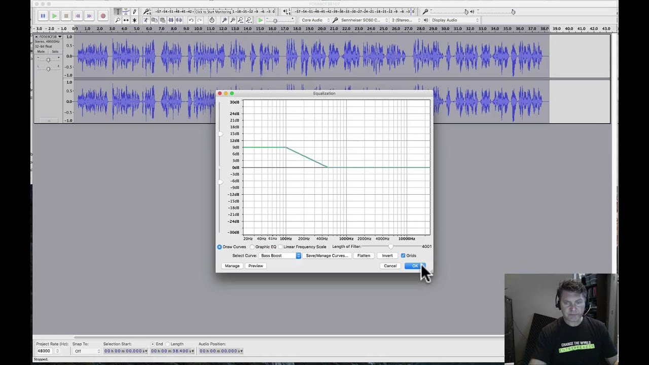 3 Minute Audacity Voice Filter Example - (818) 254-9554