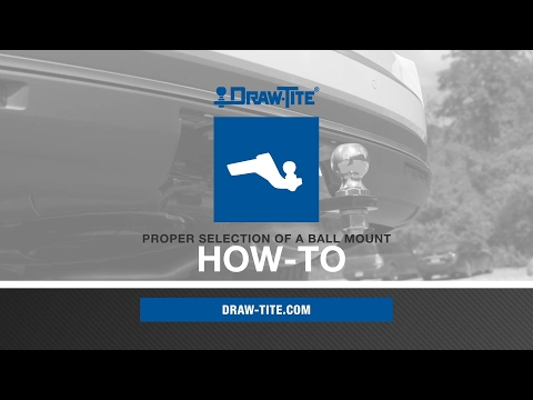 How To Properly Select a Ball Mount - Draw•Tite®