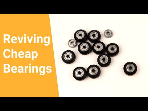 How to: Clean and lubricate cheap bearings.