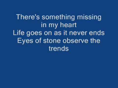 Show me the meaning of being lonely lyric