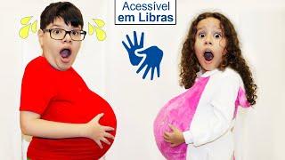 👋🏻 LIBRAS 👋 Nós comemos demais!!!  We ate too much -Valentina Pontes