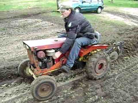 Allis Chalmers B10 Simplicity Landlord Tractor Plowing Garden April 2011    YouTube
