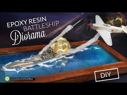 How to make battleship  DIORAMA - resin water [DIY]   ⚔