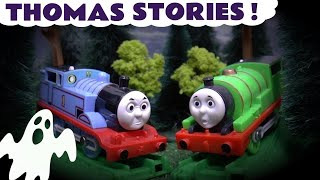thomas friends spooky stories with play doh lego scooby doo minions toys halloween and peppa pig
