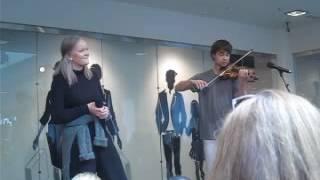 Alexander Rybak and Pernille Hogstad- Du bare du- Sandvika Storsenter May 28 2016