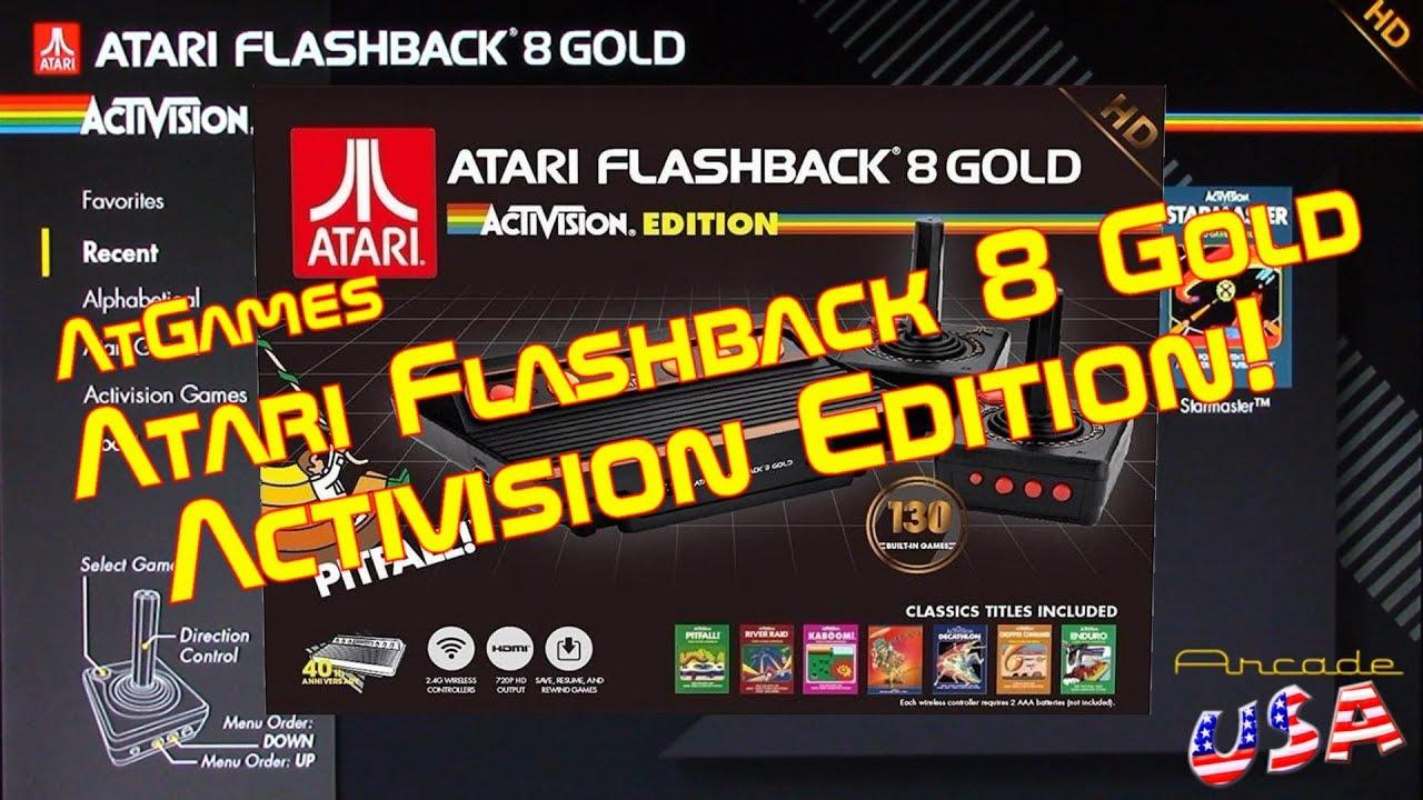 AtGames Atari FlashBack Gold 8 Activision Edition!