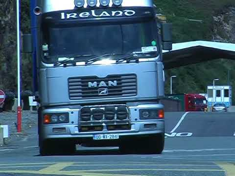 Trucks loading RoRo vessel on 140803 at Fishguard Harbour