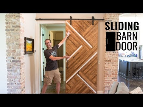 Sliding Barn Door with a Fashionable Twist // Straightforward DIY Woodworking