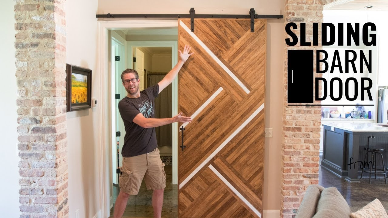 Wood Sliding Barn Door // Easy DIY Woodworking