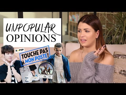 MY UNPOPULAR OPINIONS / MES OPINIONS IMPOPULAIRES 🙄