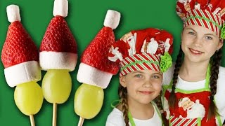 GRINCH FRUIT POPS - How To Make Healthy Christmas Pops With Strawberry, Grape And Marshmallow
