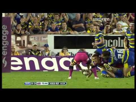 Warrington Wolves 24 vs Leeds Rhinos 26