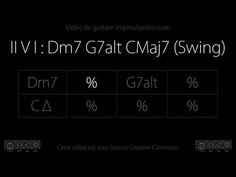 II V I : Dm7 G7alt CMaj7 (110 bpm) : Backing Track