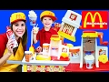 McDonalds Shake Maker & French Fries With Melissa & Doug Food Cart + Ice Cream Cart DisneyCarToys