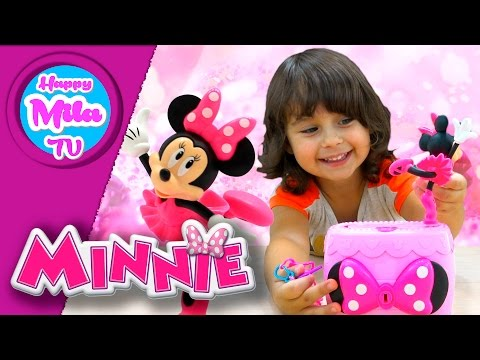 Minnie Musical Jewelry Box with Key Spinning Minnie Figure and Charm Bracelet |  HappyMilaTV #299