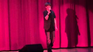 zach miller sings don t stop believin at ltms talent show 2014