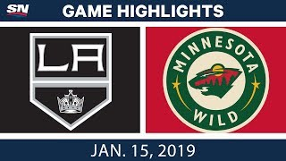 NHL Highlights | Kings vs. Wild - Jan. 15, 2019