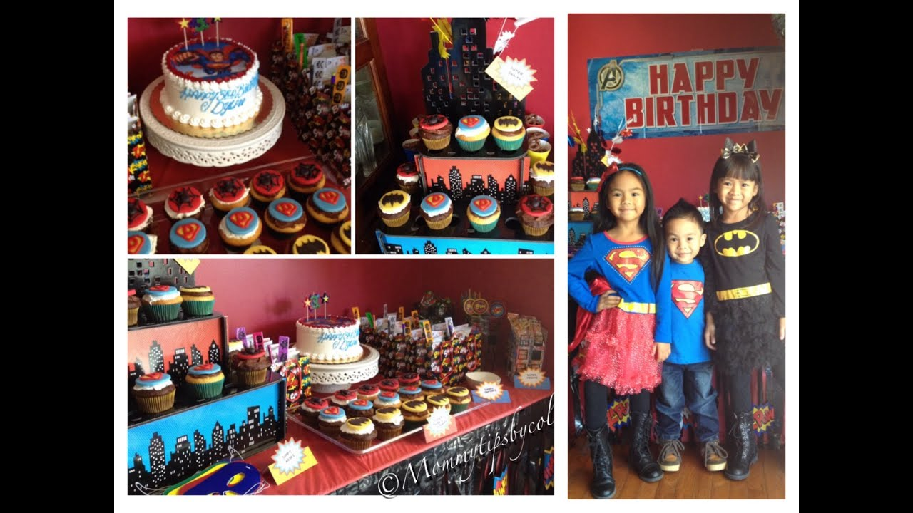 Superhero Birthday Party Ideas Budget friendly My prep vlog