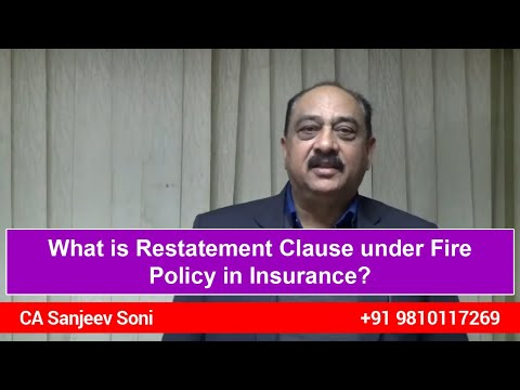What Is Restatement Clause Under Fire Policy In Insurance?