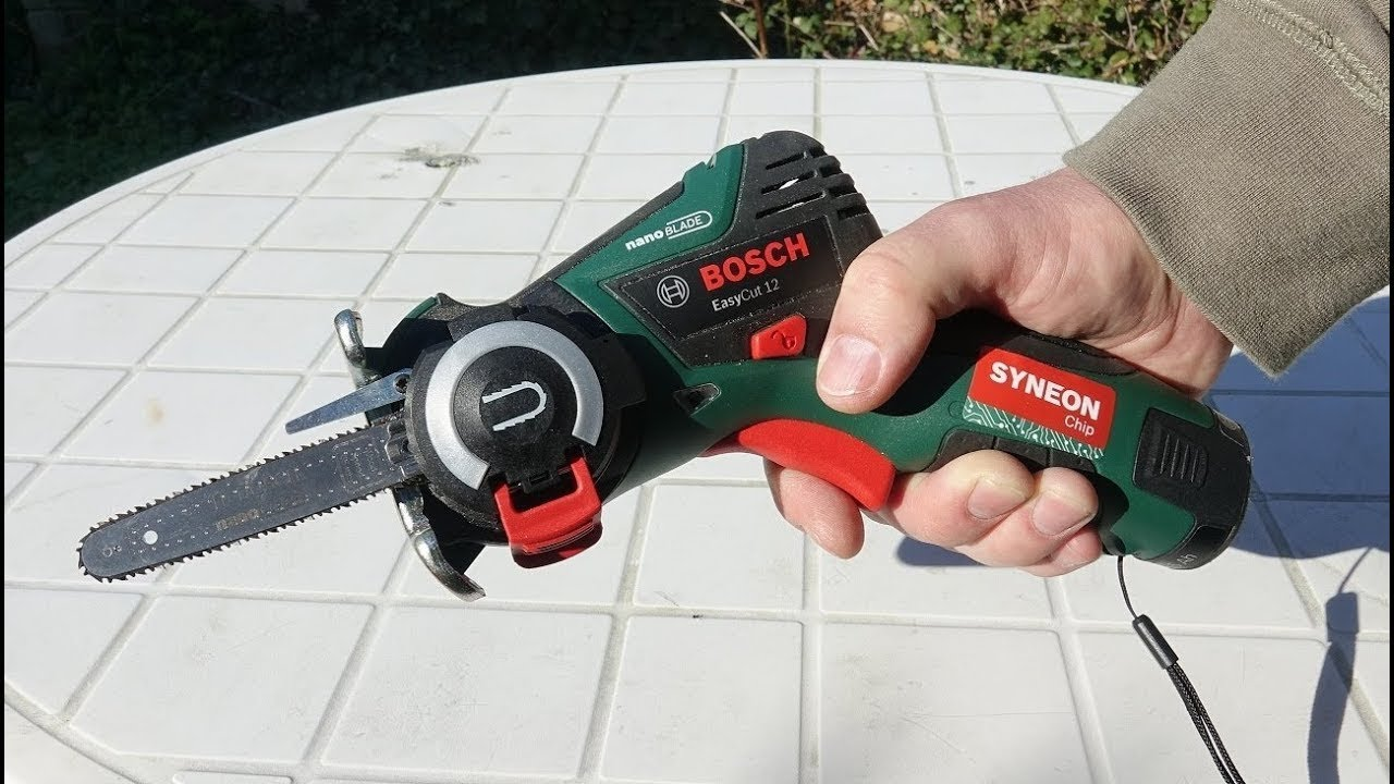 bosch easycut 12 li cordless saw unboxing and test - youtube