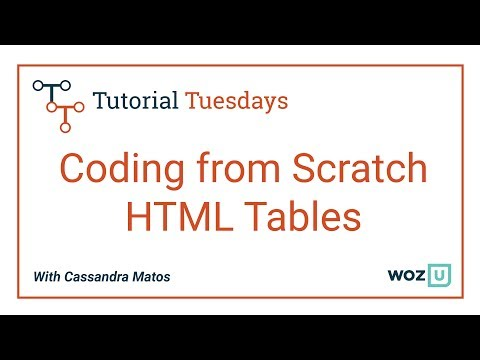 Woz U Learn To Code: Intro To HTML Tables | Coding From Scratch