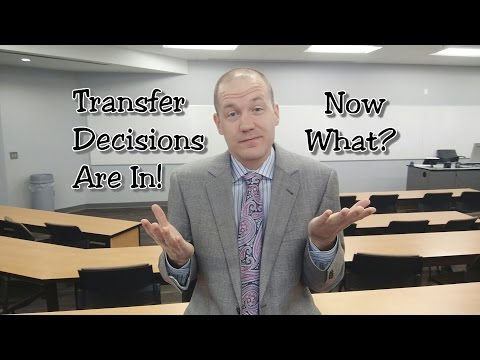 Transfer Options Are In - Decision Soon!