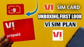 Vi-Sim Unboxing And First Look | Vi Sim Plan | Vodafone Idea Sim=Vi Sim | Vi Thumb