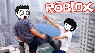 YOU PUSHED ME OFF!!!!! - (Roblox w/ Bray88O)
