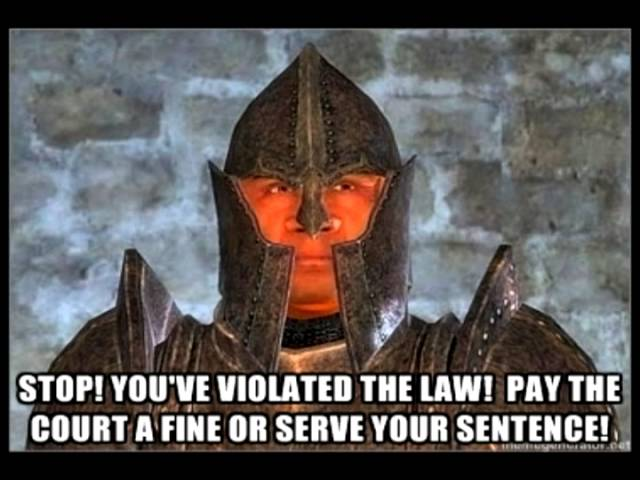 Oblivion Stop You Violated The Law Youtube