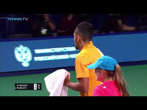 Hot Shot: Outrageous Sneak Attack By Nick Kyrgios In Moscow 2018