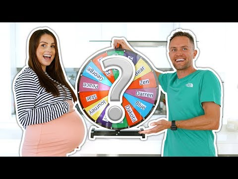 MYSTERY WHEEL OF BABY NAMES! *baby Name Reveal*