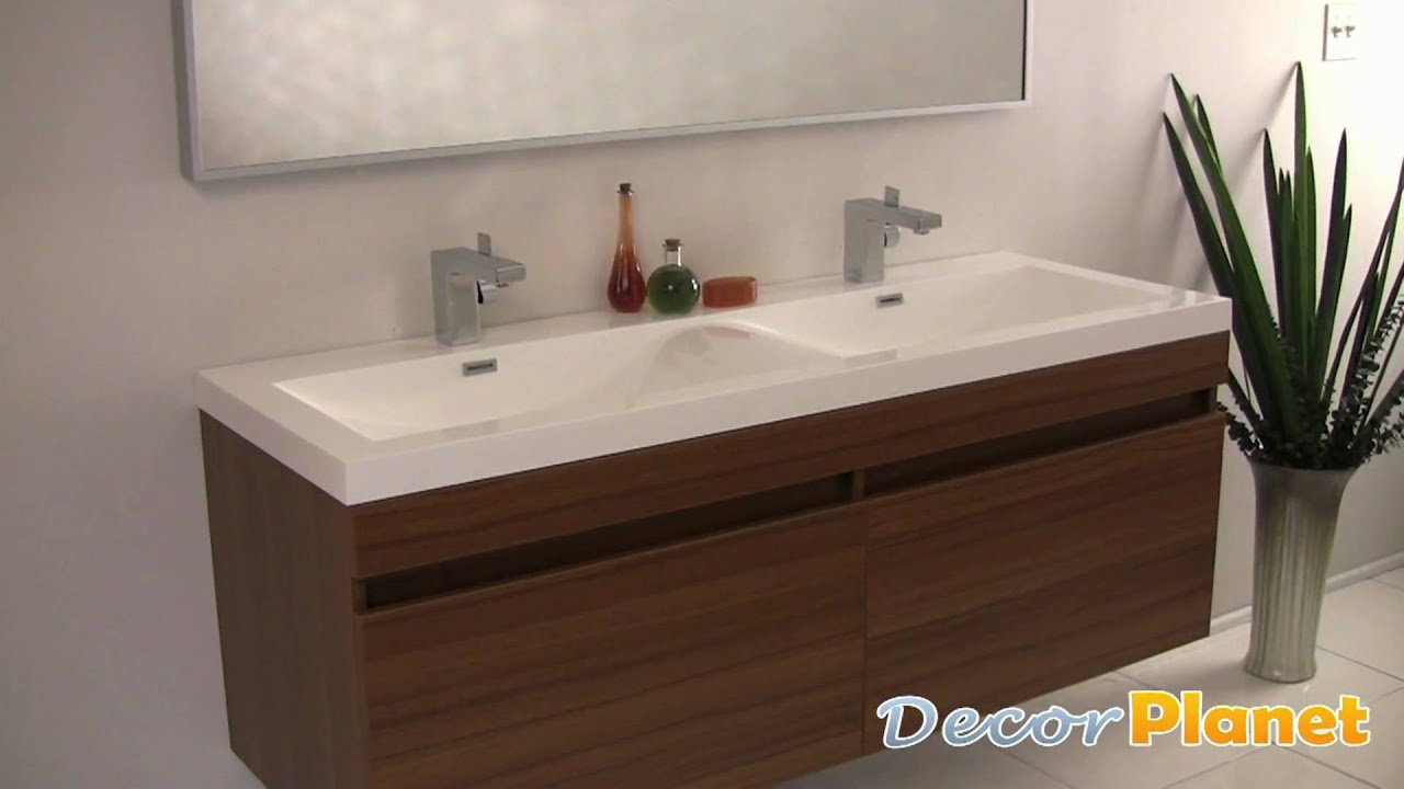 Largo teak double sink bathroom vanity modern vanities for Decorplanet bathroom vanities
