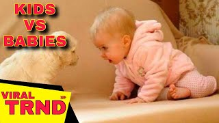Funny babies annoying dogs - Cute dog & baby compilation Viral TRND Videos