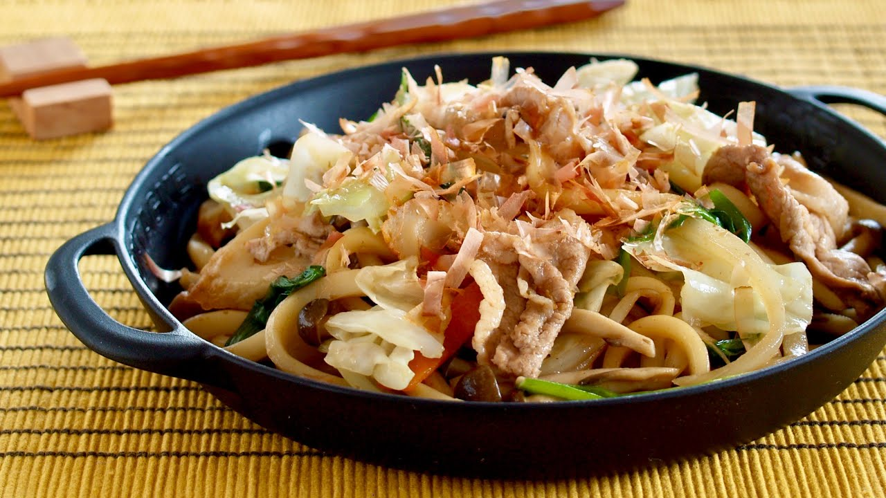 The Best Yaki Udon Stir Fried Udon Noodles Recipe Ochikeron Create Eat Happy Youtube
