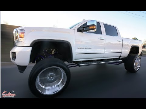 2015 GMC SIerra Duramax lifted 9 inches on 24x14 American ...