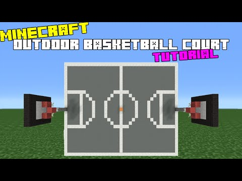 Minecraft Tutorial: How To Make An Outdoor Basketball Court
