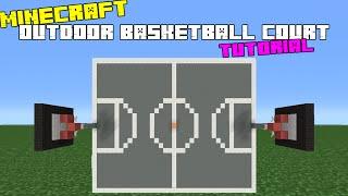 Minecraft Tutorial: How To Make An Outdoor Basketball Court